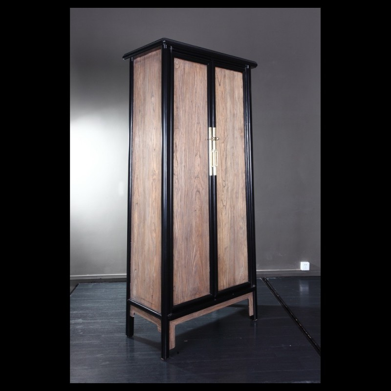 Tall Tapered Cabinet In Raw Elm Acf China