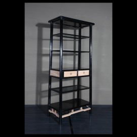 Open back tapered bookcase