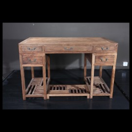 Rustic weather wood desk