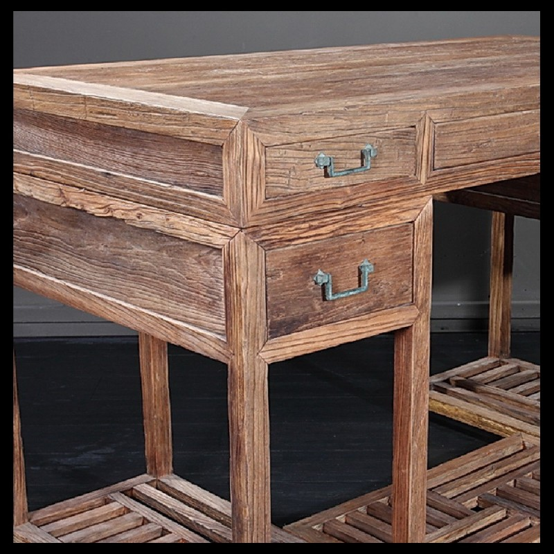Rustic Wood Furniture Desk ~ Rustic weather wood desk acf china