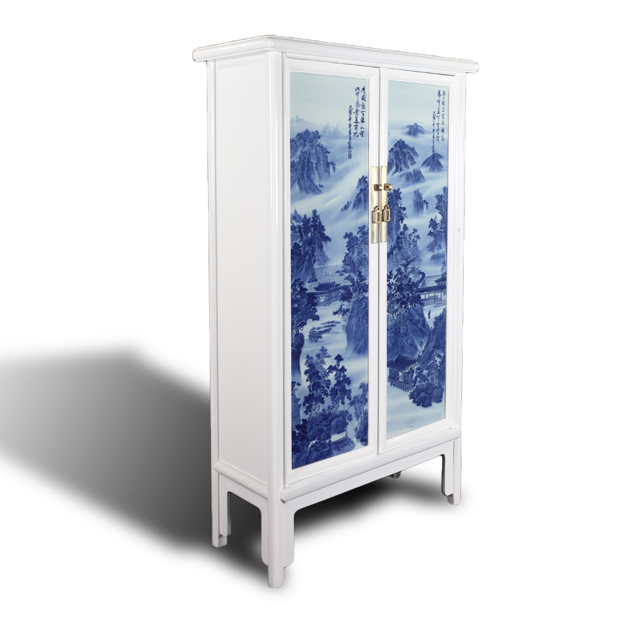 Classic Blue U0026 White Porcelain Inlay Cabinet