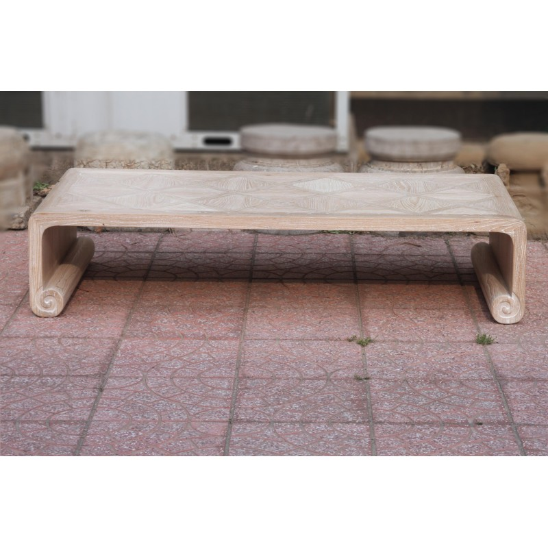 Natural wood parquet top coffee table acf china - Organic wood coffee table ...