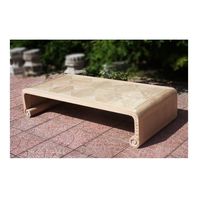 Natural Wood Parquet Top Coffee Table Acf China