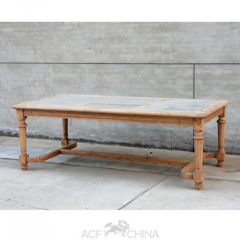 Reclaimed pinewood dining table with stone inlay top ACF  : reclaimed pinewood dining table with stone inlay top from antique-chinese-furniture.com size 800 x 800 jpeg 97kB