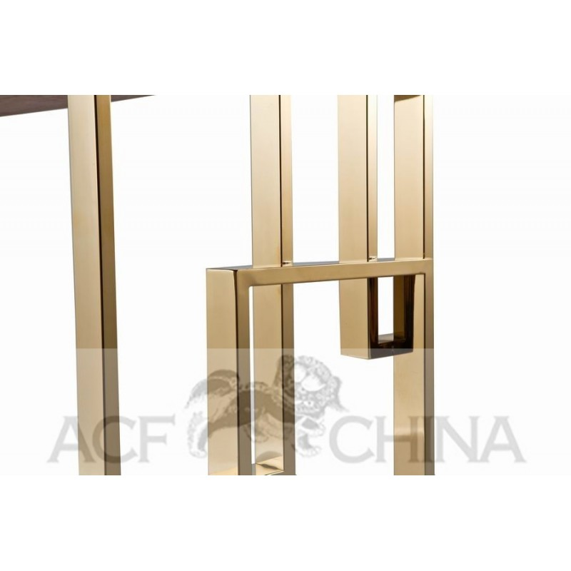 Stainless steel dining table with wood top acf china for Stainless steel dining table