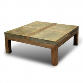 Stone brick coffee table