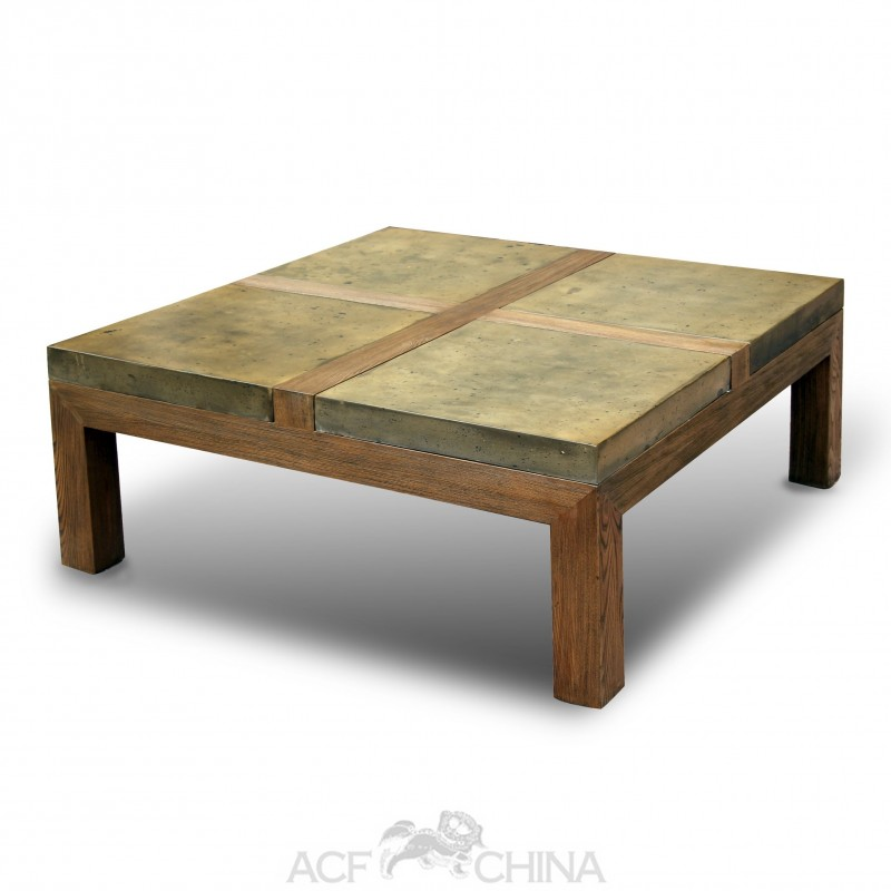 Stone brick coffee table acf china Stone coffee table