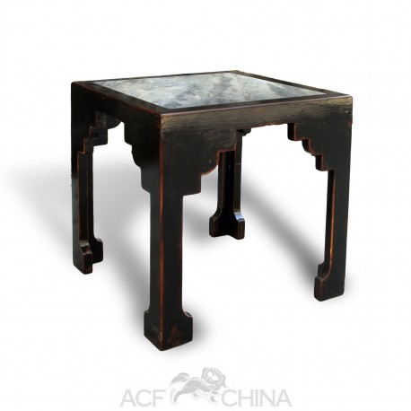 Marble Inlay Side Table