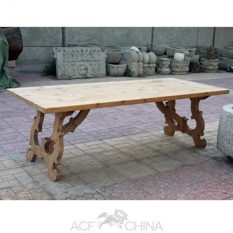 Reclaimed pinewood french country dining table acf china for French country furniture catalog