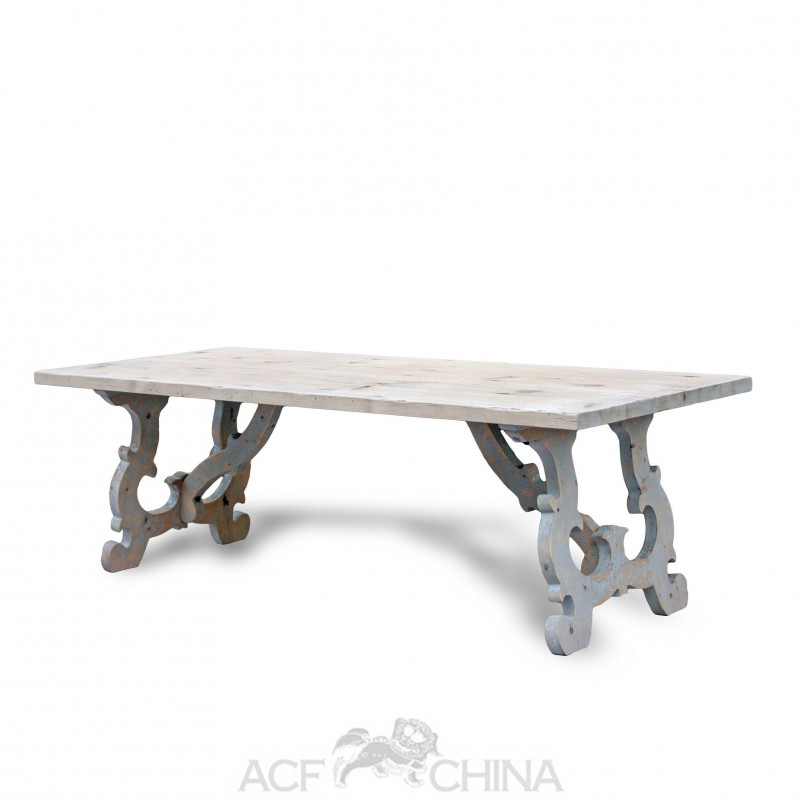 Reclaimed Pinewood French Country Dining Table Acf China