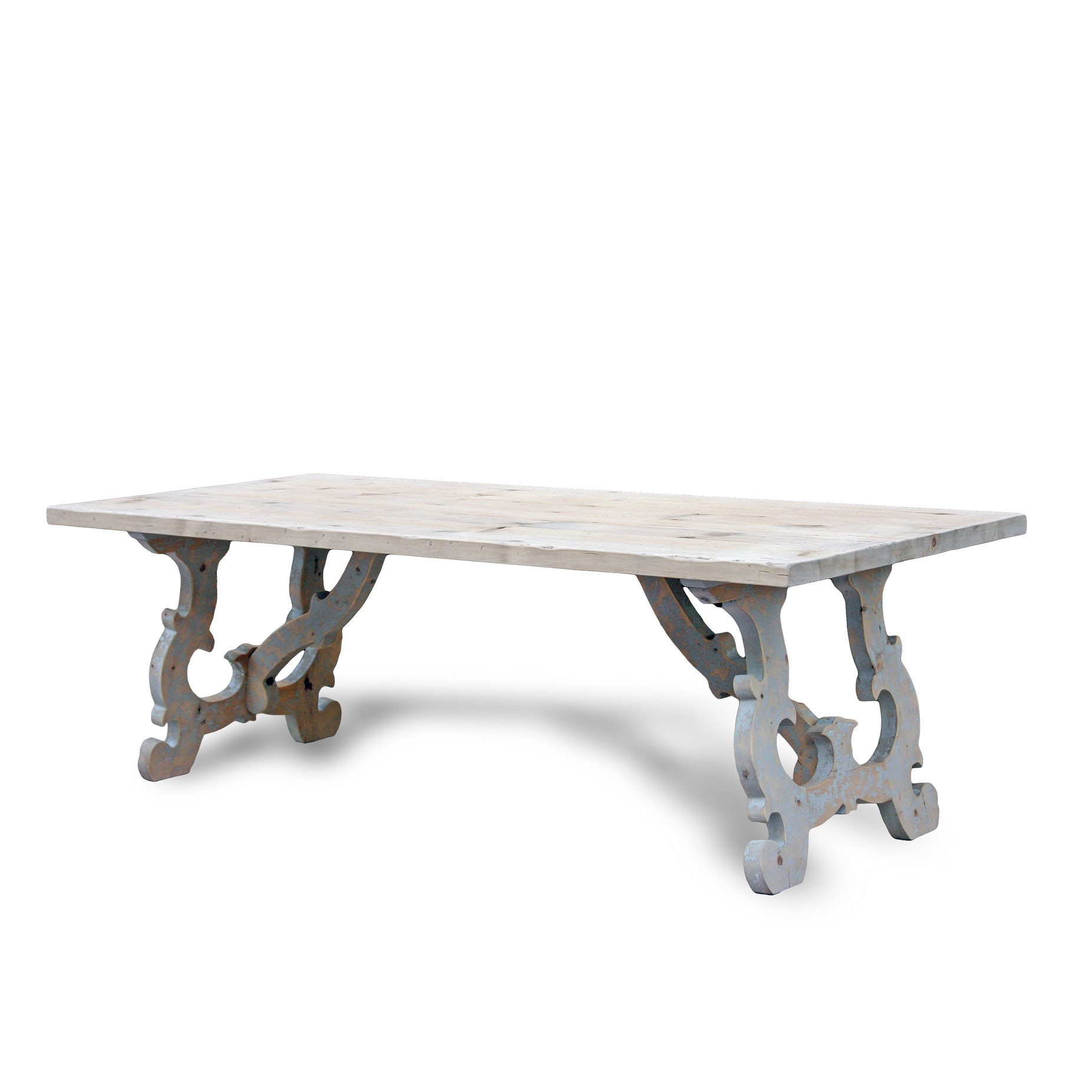 Reclaimed Pinewood French Country Dining Table - ACF China