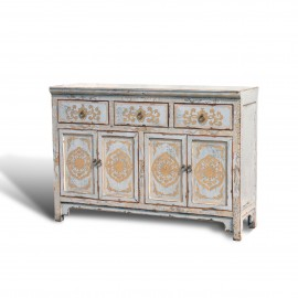 """Touch of exotic"" painted buffet"
