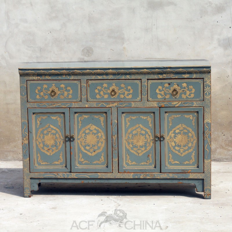 Touch of exotic painted buffet acf china for Painted buffet sideboard