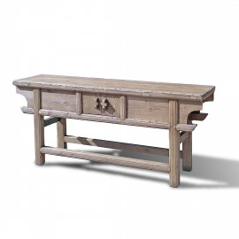 Narrow antique-reproduction dongbei farm table