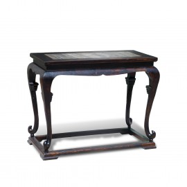 Cabriole leg high side table