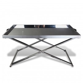 stainless steel chrome cocktail table with stand