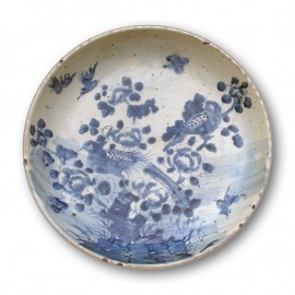 Large size Chinese blue and white round porcelain dish