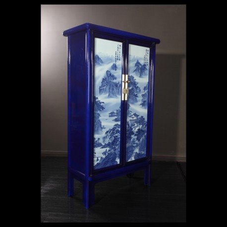 Classic blue & white Porcelain inlay cabinet