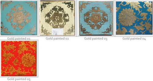 hand painted gold trimmed finishes