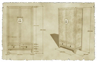 cad drawing for custom made chinese furniture