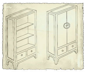 sample sketch for custom made chinese furniture