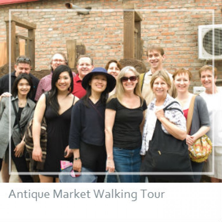 "Visiting Beijing's ""industry only"" antique furniture markets to see ""furniture in the raw"","